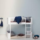Wood mini+ halvhøj seng, hvid