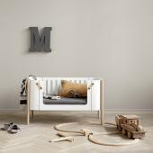 Wood Co-sleeper inkl. ombyg til bænk, hvid/eg