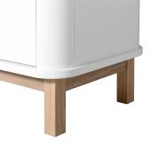 Wood multiskab 3 døre, hvid/eg