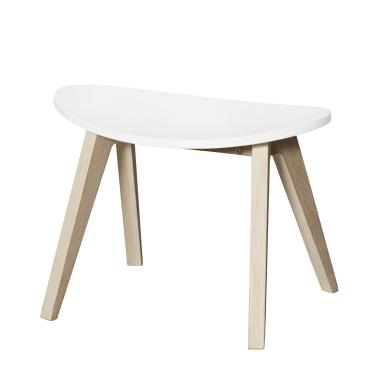 PingPong taburet, hvid/eg