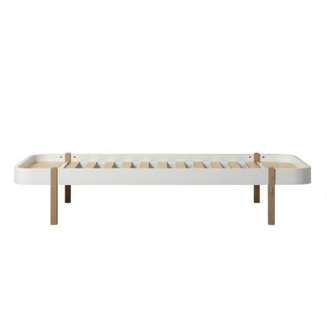 Wood Lounger 90, hvid/eg