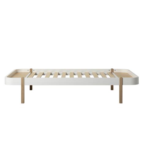 Wood Lounger 120, hvid/eg