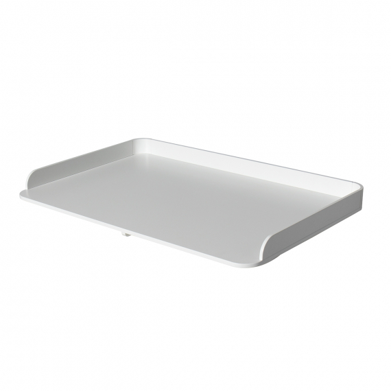 Wood pusleplade stor, t/kommode 6 skuffer, hvid