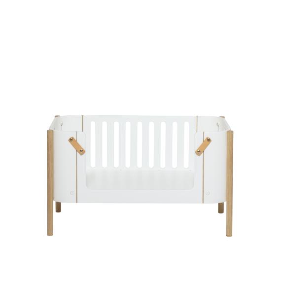 Wood bænk, hvid/eg